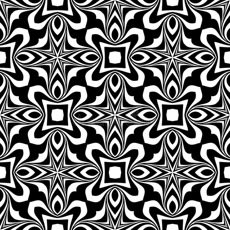 Black and white seamless repeated geometric art pattern background. Textile, books. Background,black,,geometric,pattern,seamless,white,abstract,art, print vector illustration