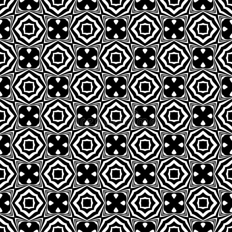 Black and white seamless repeated geometric art pattern background. Textile, books. Background,black,,geometric,pattern,seamless,white,abstract,art, print stock illustration