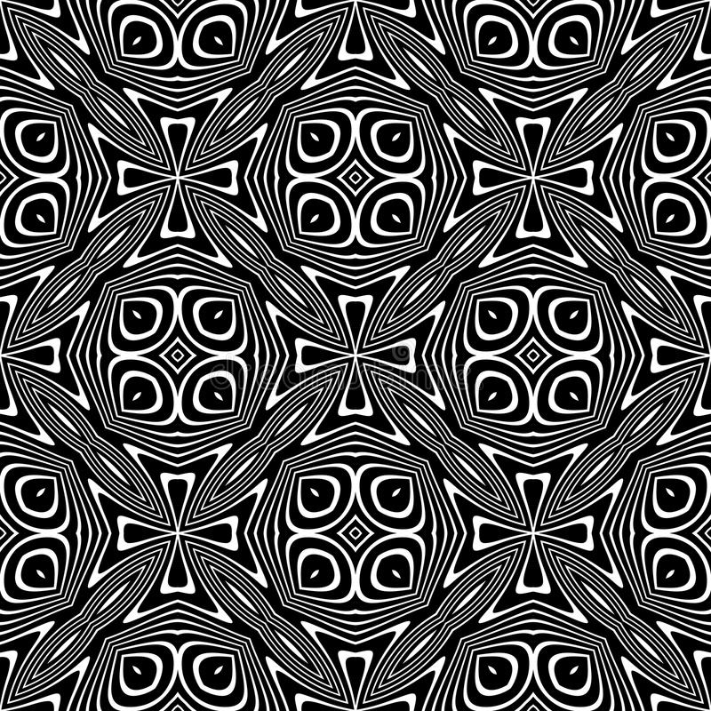Black and white Seamless Repeating Vector Pattern. Multicolored, idea. vector illustration