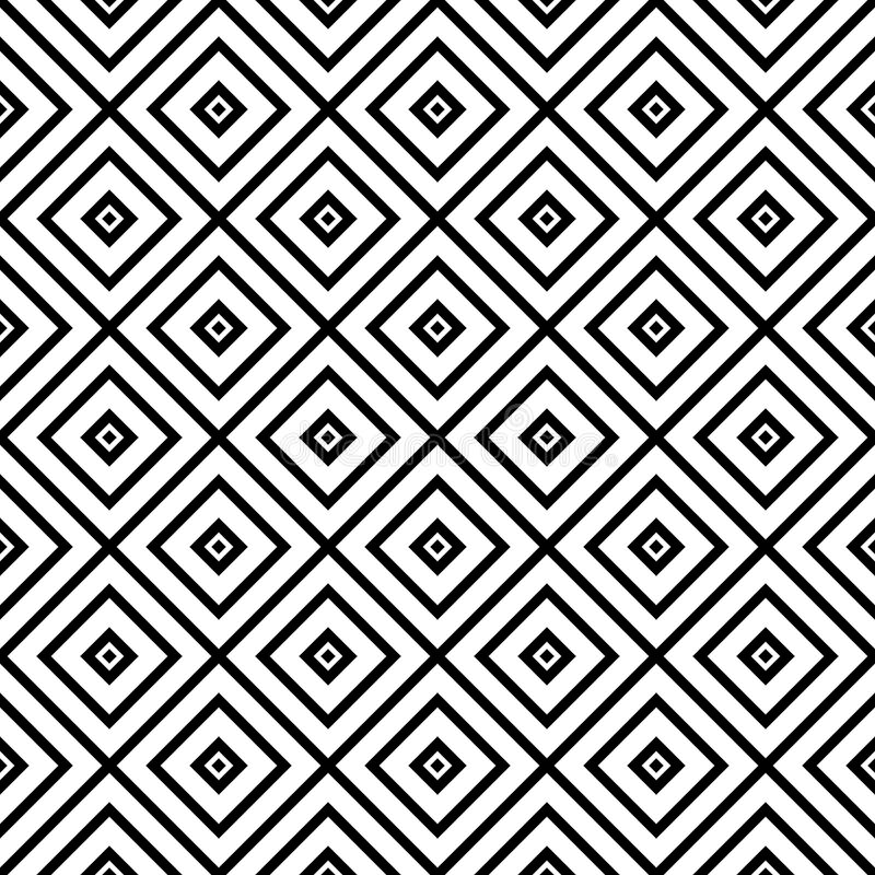 Vector stripes of square seamless diagonal pattern. royalty free illustration