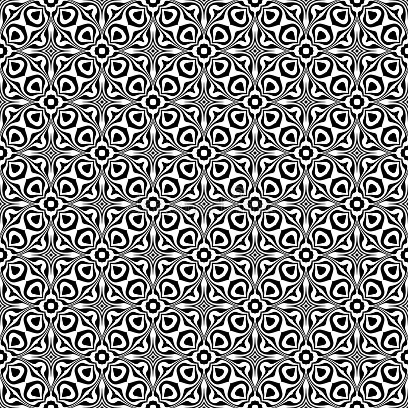 Black and white Seamless Repeating Vector Pattern. Multicolored, idea. stock illustration