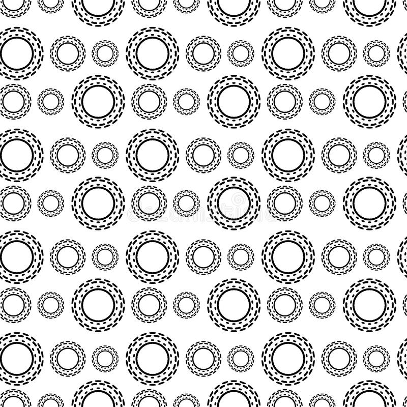 Black and White Seamless Steampunk Pattern vector illustration