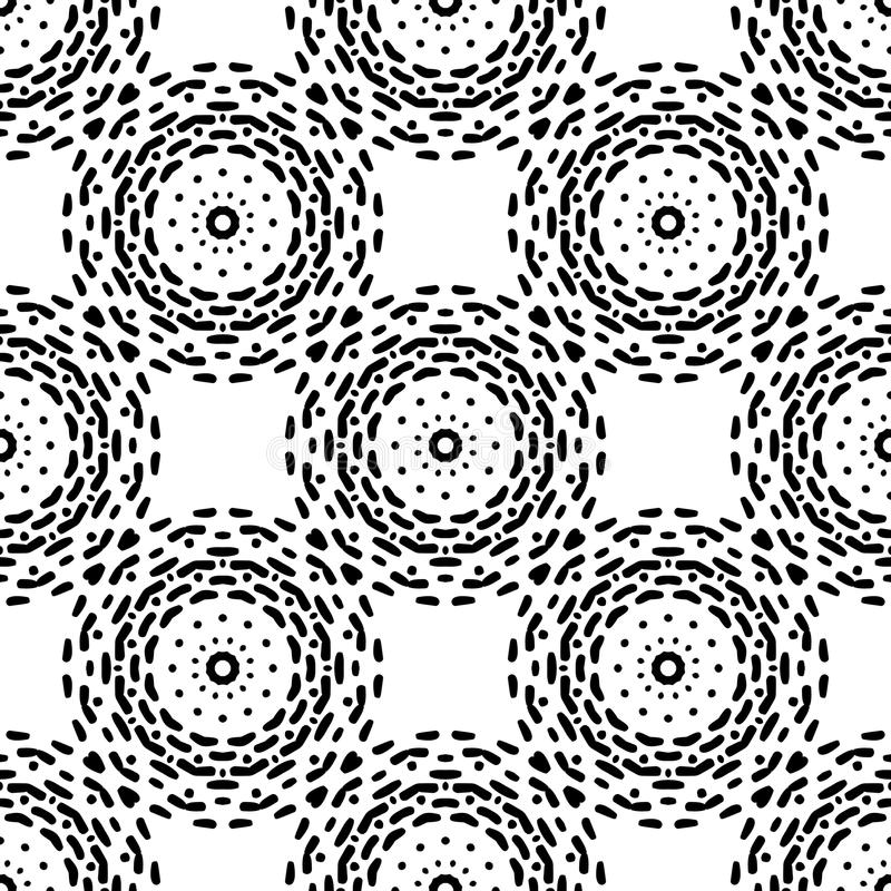 Black and White Seamless Steampunk Pattern stock illustration