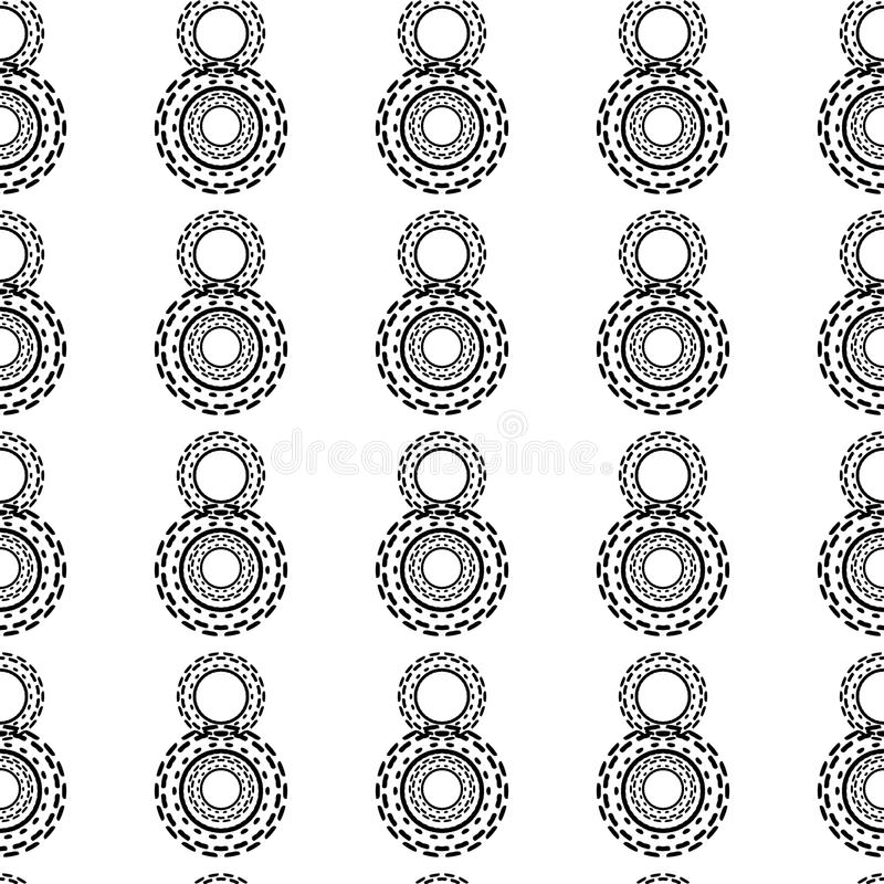 Black and White Seamless Steampunk Pattern royalty free illustration