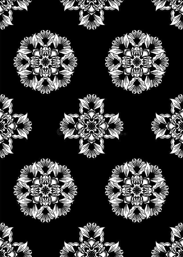 Black white seamless wallpaper stock illustration