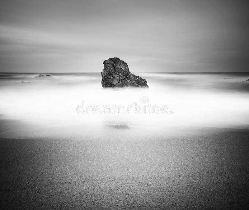Black and white seascape royalty free stock photo
