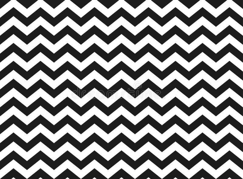 Black and white semaless zig zag chevron pattern, abstract background. Regular black and white zigzag chevron pattern, seamless zig zag line texture abstract vector illustration