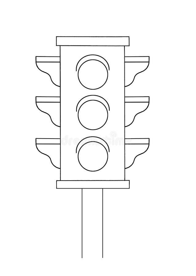 Black and white - semaphore stock image