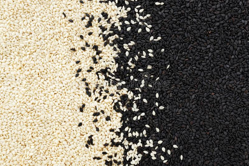 Black and white sesame background royalty free stock photos
