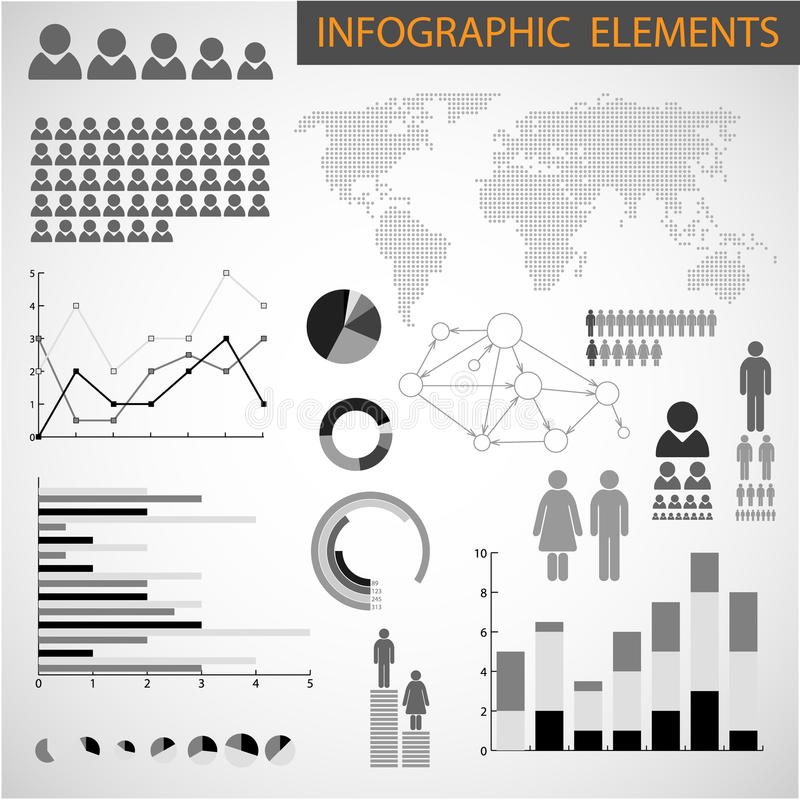 Download Black And White Set Of Infographic Elements Stock Illustration - Image: 21817339