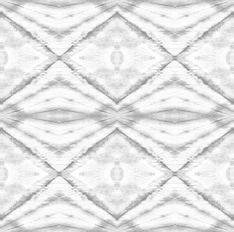 Tie Dye Pattern. Black and White Shibori seamless print. Tie Dye Pattern. Watercolor hand drawn batik. Summer ink japan illustration. Handmade watercolour shirt stock illustration