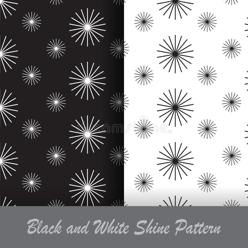 Black and white shine pattern royalty free stock photography