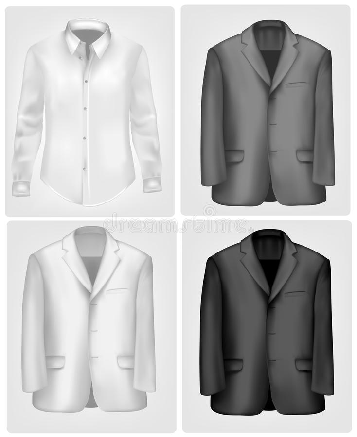 Download Black And White Shirt And Suit. Vector Stock Vector - Illustration: 19376343