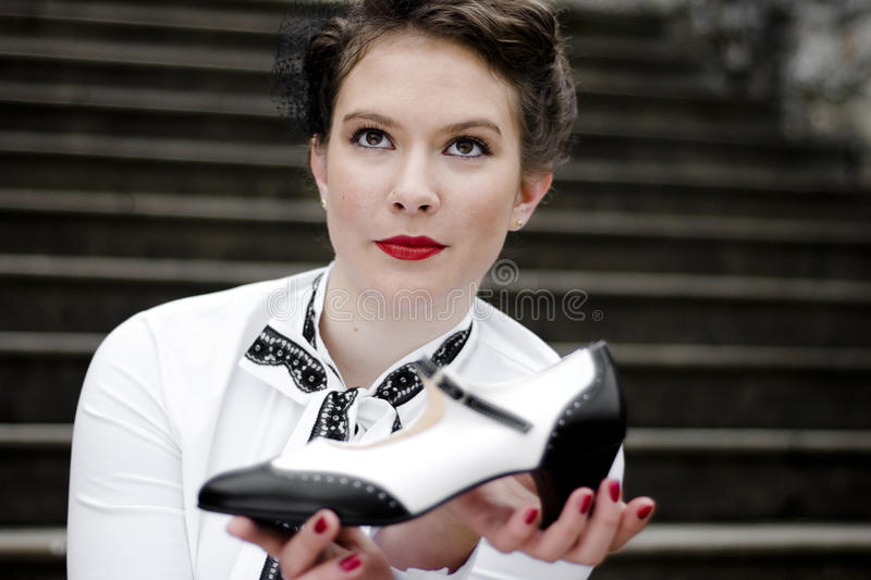 Black And White Shoe Royalty Free Stock Image
