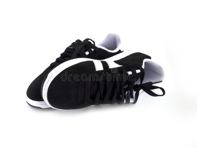 Black and white shoes stock images