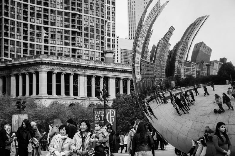 Cloud Gate sculpture royalty free stock image