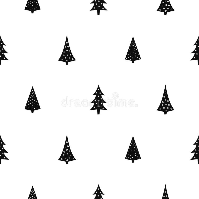 black and white simple seamless christmas pattern stock