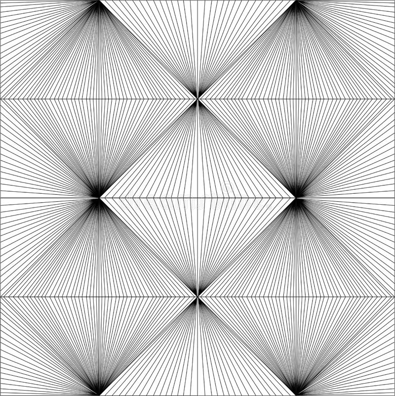 Black & white geometric pattern. Black & white sketch geometric pattern background royalty free illustration