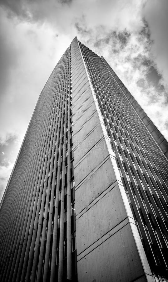 Black and White skyscraper in Downtown Bogota - Bogota, Colombia. Black and White skyscraper in Downtown Bogota, Colombia royalty free stock image