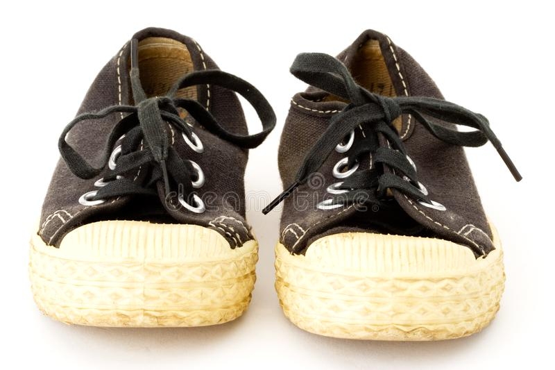 Black and white sneakers royalty free stock photos