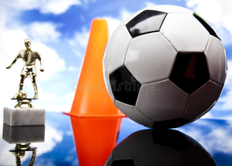 Black and white soccer ball royalty free stock photo