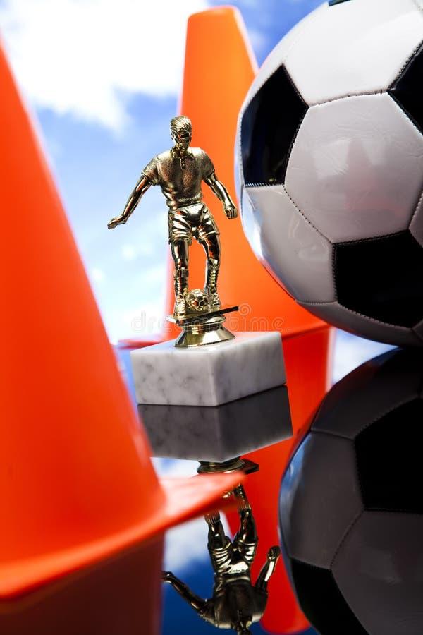 Black and white soccer ball stock photos