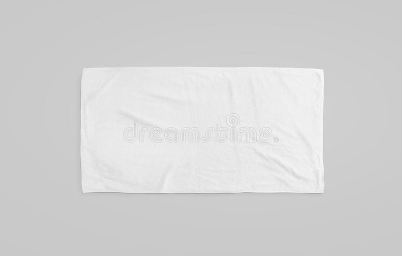 Black white soft beach towel mockup. Clear unfolded wiper royalty free stock image