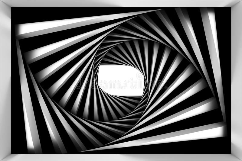 Black and white spiral royalty free illustration