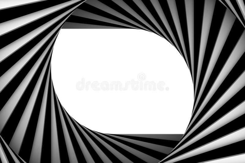 Black and white spiral vector illustration