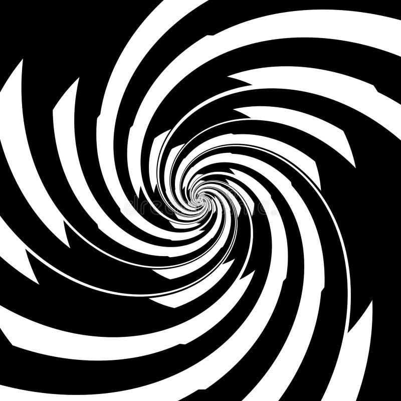 Black And White Spiral. Spiral in black and white stock illustration