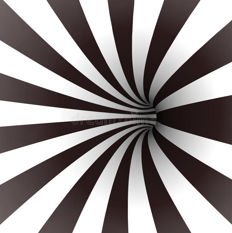 Black and white spiral tunnel. Vector vector illustration