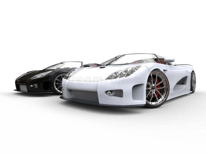 Nice Download Black And White Sports Cars   On White Background Stock Photo    Image Of Prestige