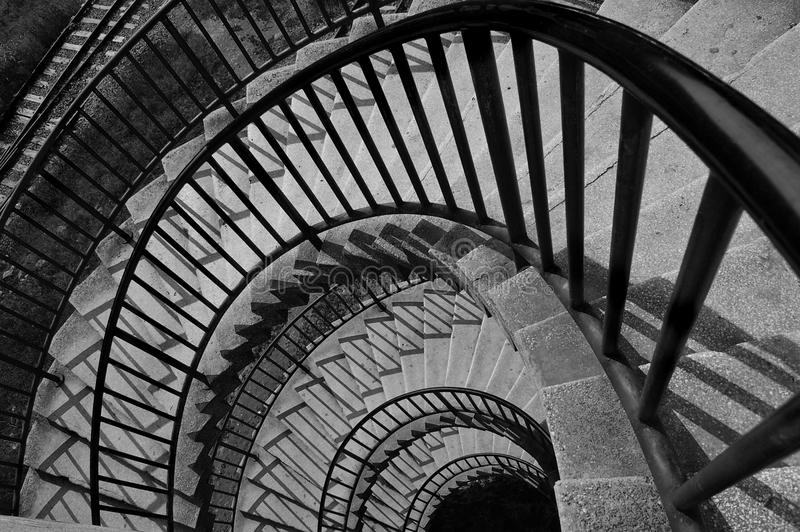 Black and white stair stock images