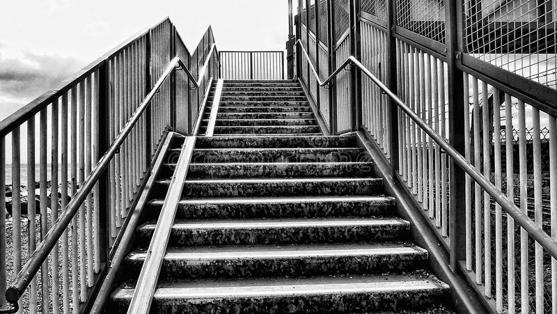 Black and white stairs royalty free stock photos