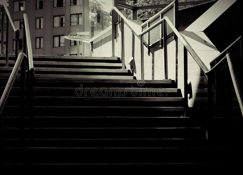 Black and white stairs royalty free stock photo