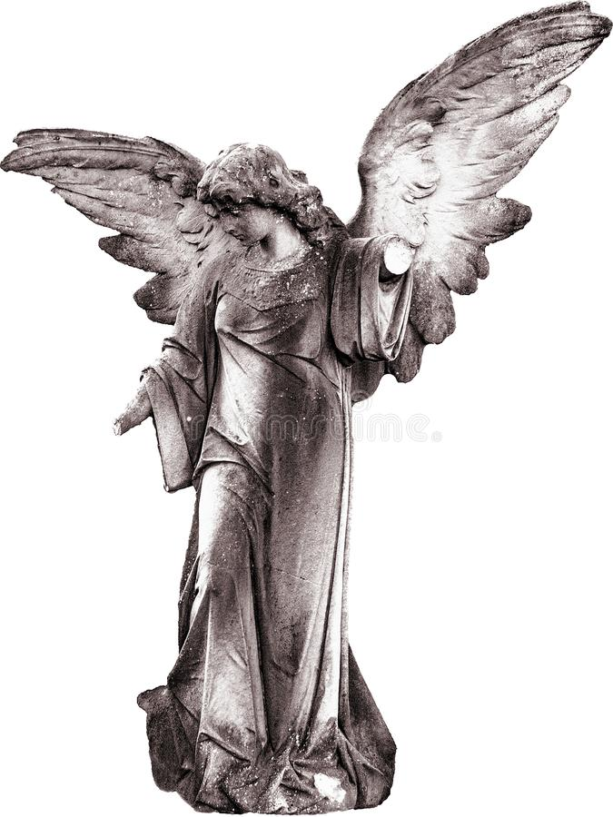 Black And White, Statue, Figurine, Angel royalty free stock photos