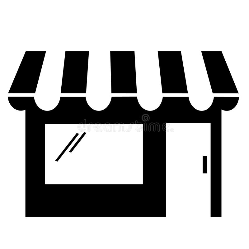 black and white storefront clipart stock vector illustration of rh dreamstime com  storefront window clipart