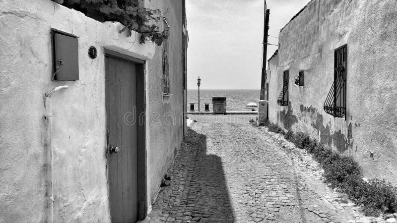 Black and white street stock image