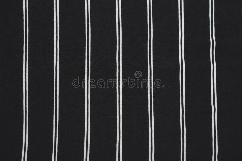 Black and white striped fabric. Close up. Fashionable concept.  stock photography