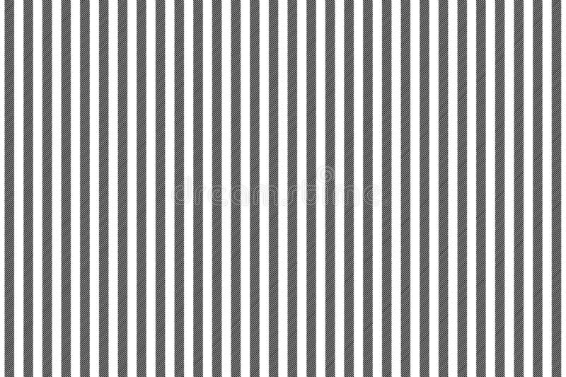 Black white striped fabric texture seamless pattern. Vector illustration.  royalty free illustration