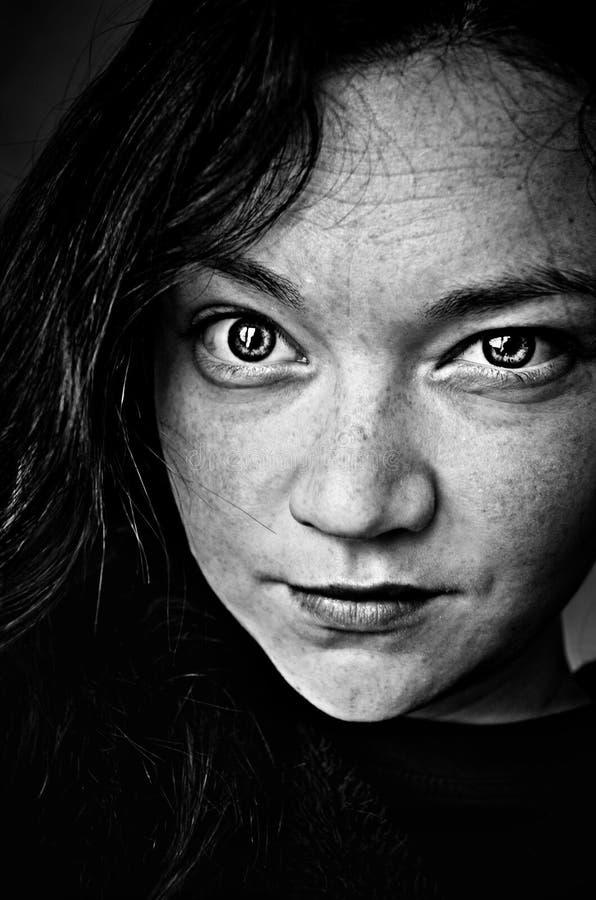 Black And White Studio Portrait Of Woman Free Public Domain Cc0 Image