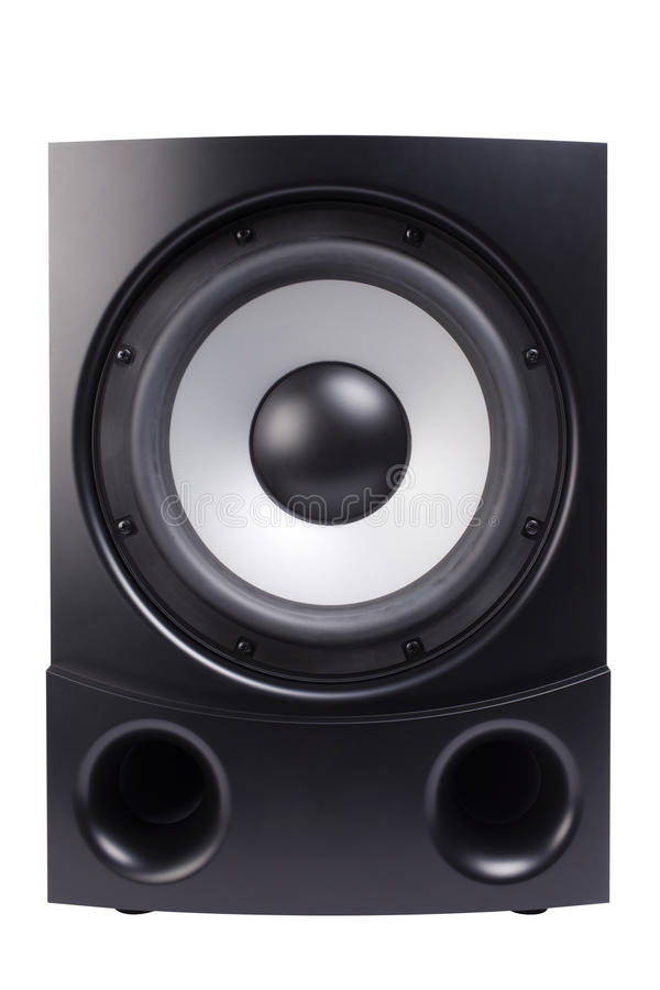 Download Black & white sub-woofer stock photo. Image of macro - 22492794