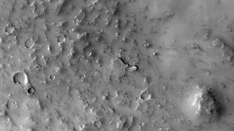 Black and white surface of Mars royalty free stock photo