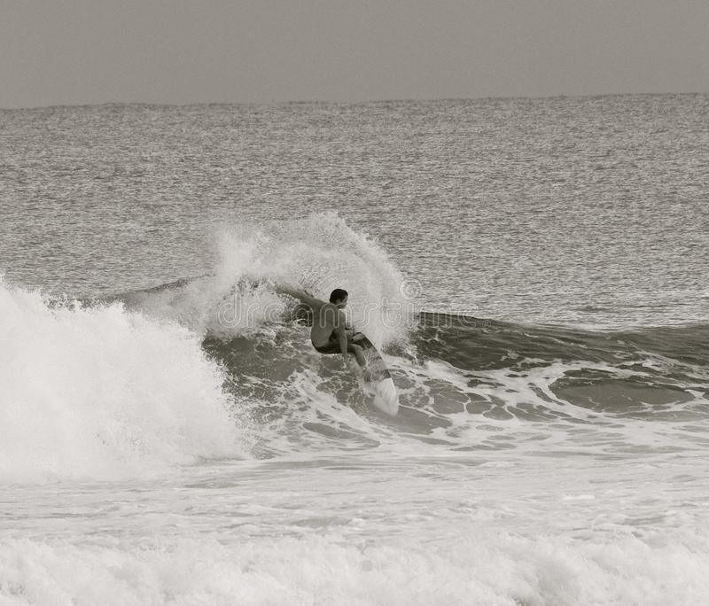 Black & White Surfer royalty free stock images