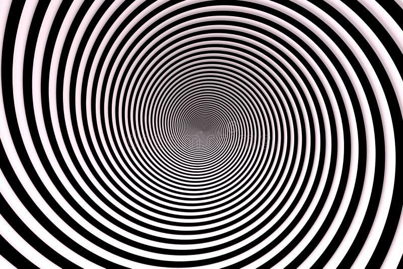 Black And White Circle Swirl Background