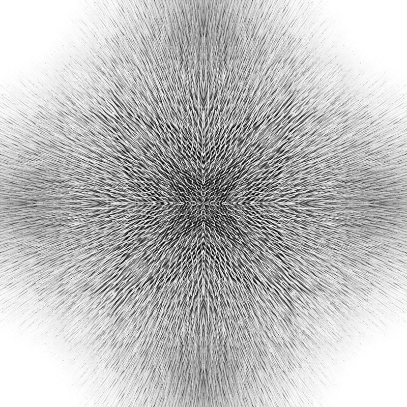 Download Black And White Symmetrical Pattern Stock Image - Image: 25085499