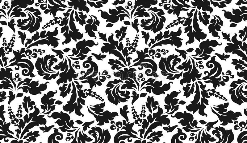 Download Black And White Tapestry With Flowers Royalty Free Stock Photos - Image: 19562268