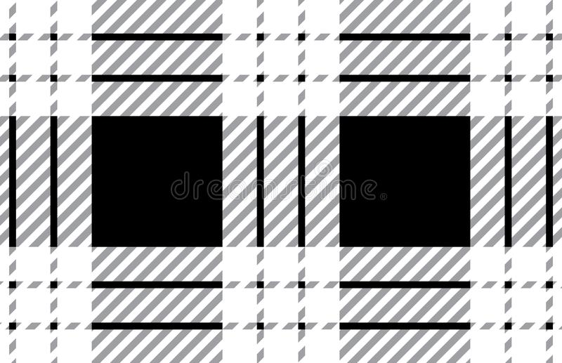 Black and white tartan plaid pattern.Vector illustration. EPS-10 stock illustration