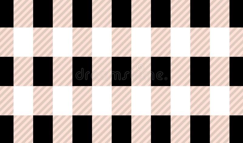 Black and white tartan plaid pattern.Vector illustration. EPS-10 vector illustration