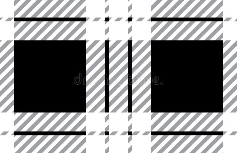 Black and white tartan plaid pattern.Vector illustration. EPS-10 royalty free illustration